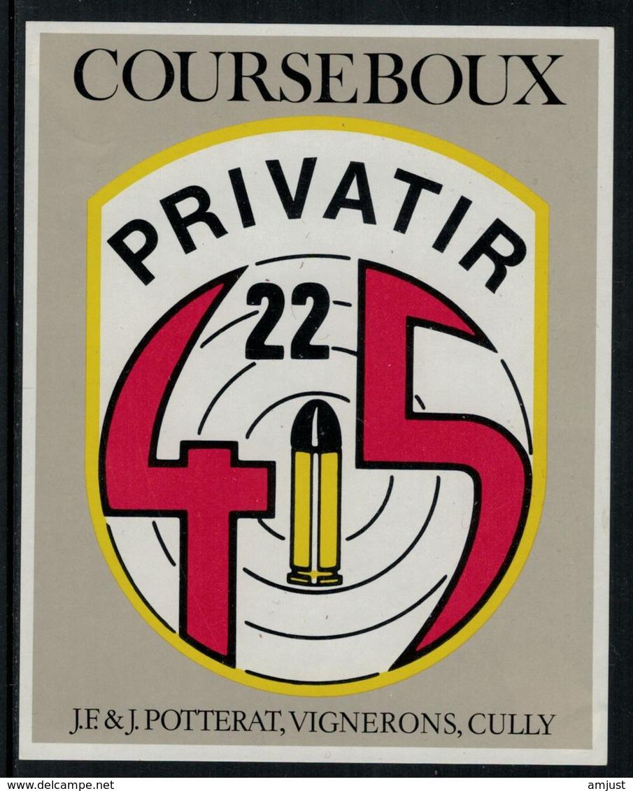 Rare // Etiquette De Vin // Tir // Courseboux, Société De Tir Privatir - Etiquettes
