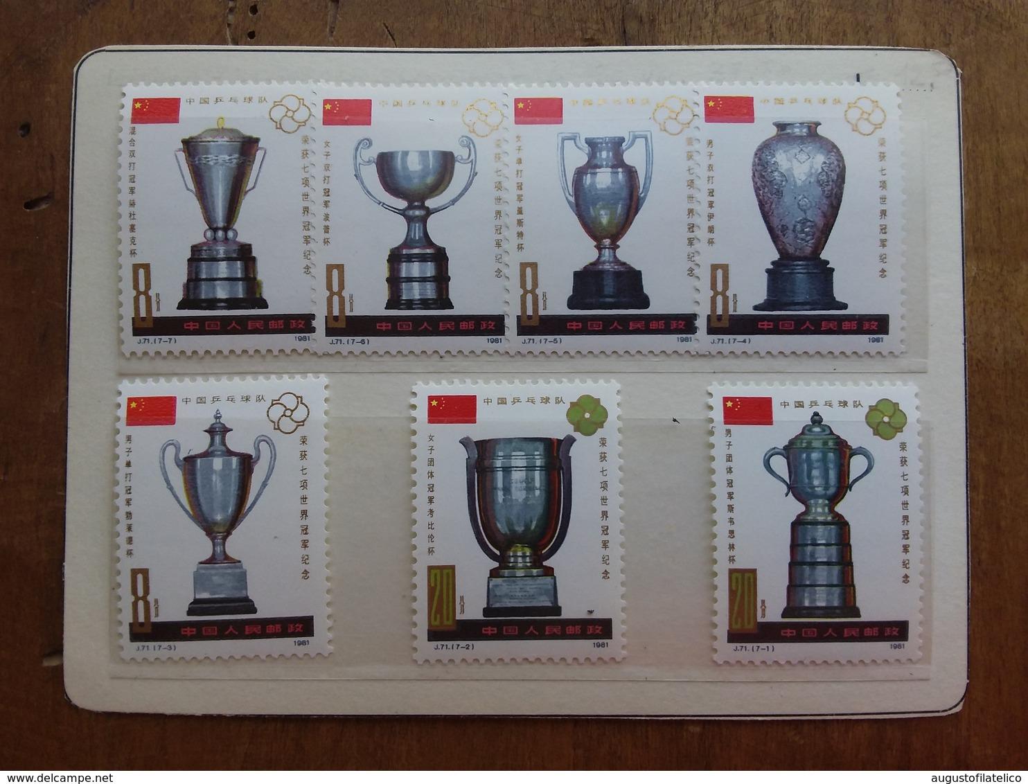 CINA 1981 - Vittoria Della Cina Campionati Mondiali Di Ping-pong Nuovi ** + Spese Postali - 1949 - ... Repubblica Popolare