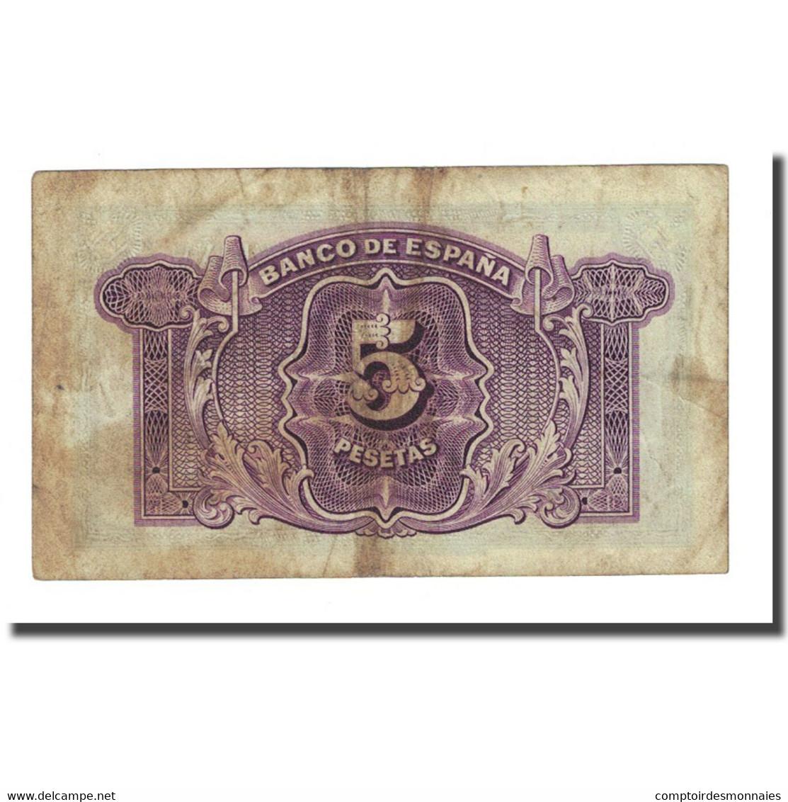 Billet, Espagne, 5 Pesetas, 1935, KM:85a, TB - [ 2] 1931-1936 : République
