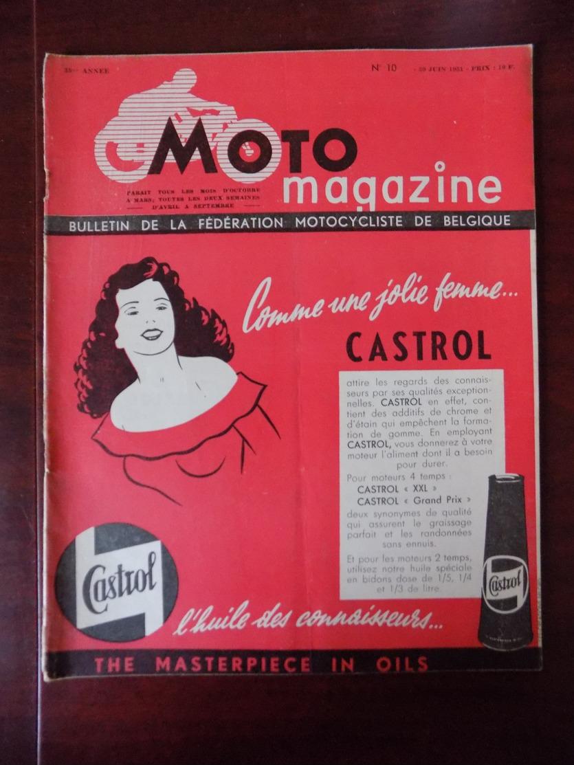 Moto Magazine N° 10 GP. Francorchamps - Vallée Geer - Tongres - Chimay - Socovel 150cc - Circuit Mons... - Auto/Moto