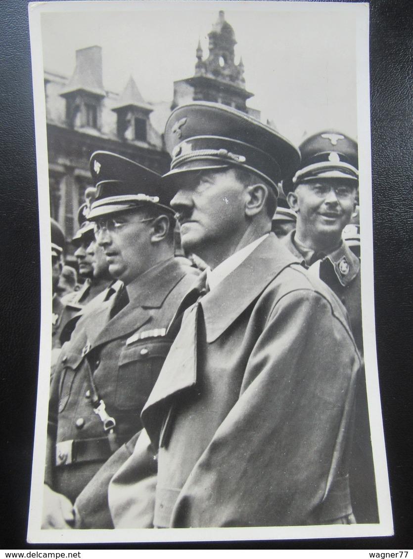 Postkarte Hitler + Himmler + Henlein - Befreiung Des Sudetenlandes 1938 - Photo Hoffmann - R! - Briefe U. Dokumente