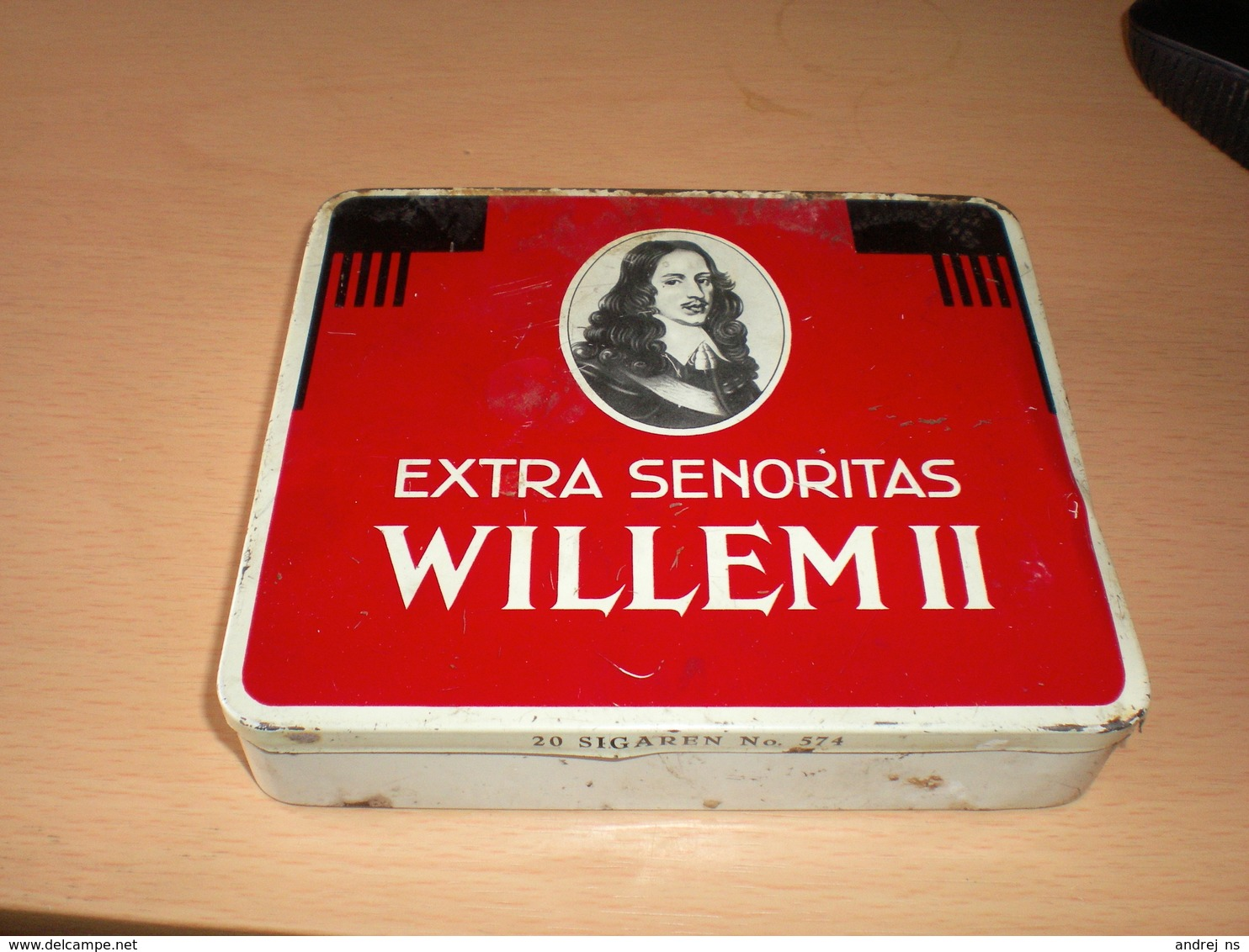 Extra Senoritas Willem II 20 Sigaren No 574  Valkenswaard Holland - Contenitori Di Tabacco (vuoti)