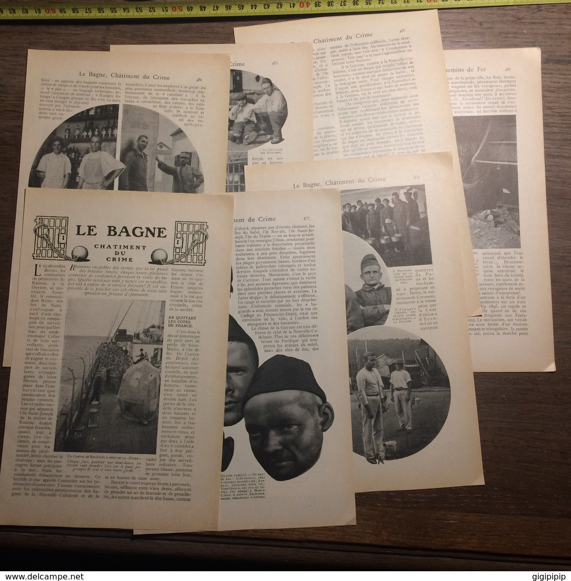 1909 DOCUMENT LE BAGNE CHATIMENT DU CRIME KOUROU PENITENCIER ENNEMIS DE NOS CHEMINS DE FER - Vieux Papiers