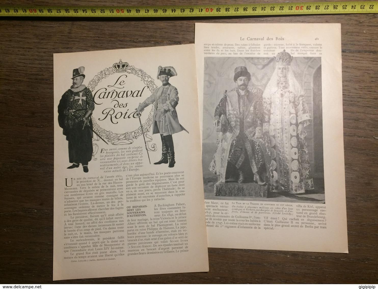 1909 DOCUMENT LE CARNAVAL DES ROIS - Vieux Papiers