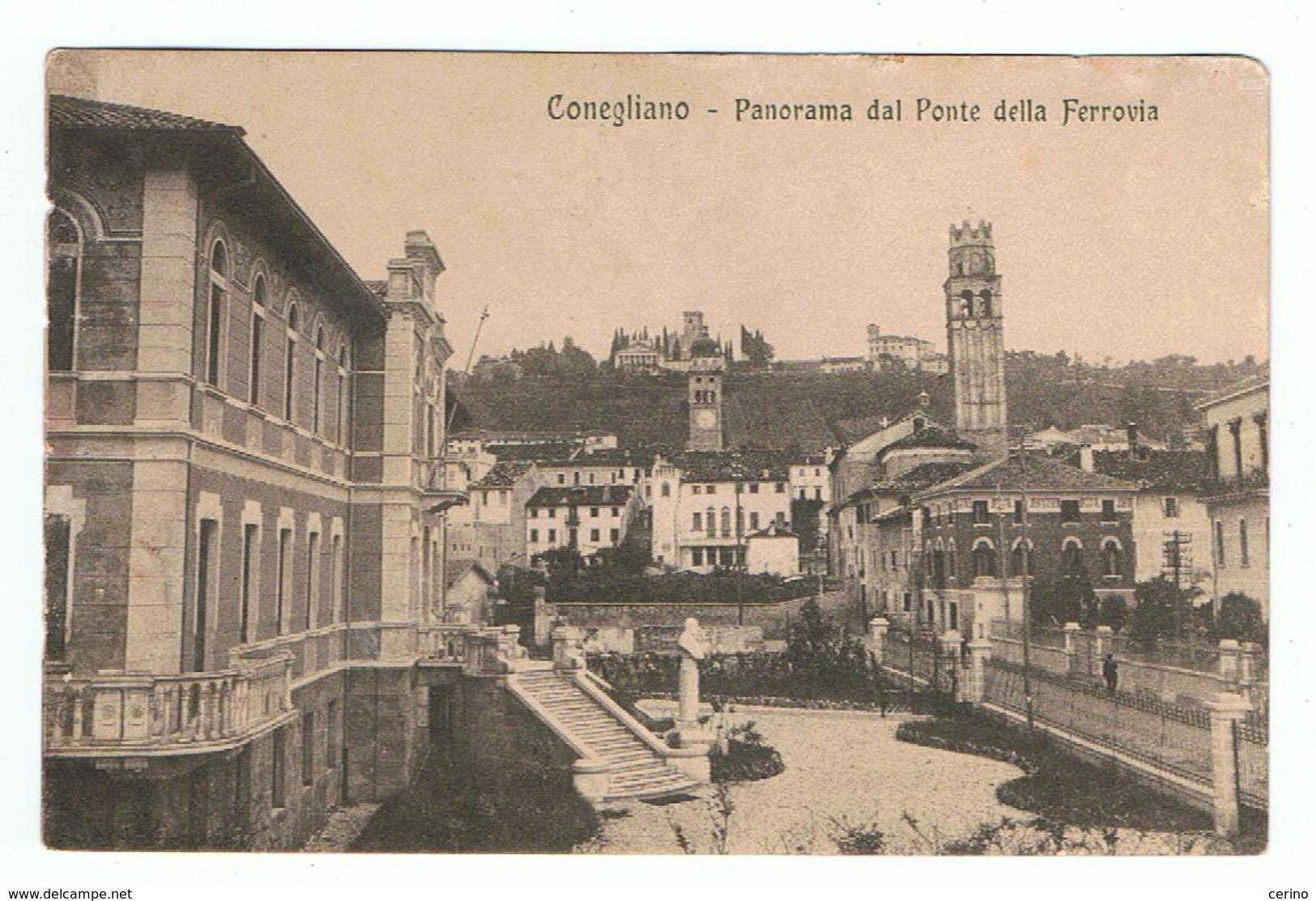 CONEGLIANO:  PANORAMA  DAL  PONTE  DELLA  FERROVIA  -  F.LLO  TOLTO  -  FP - Treviso
