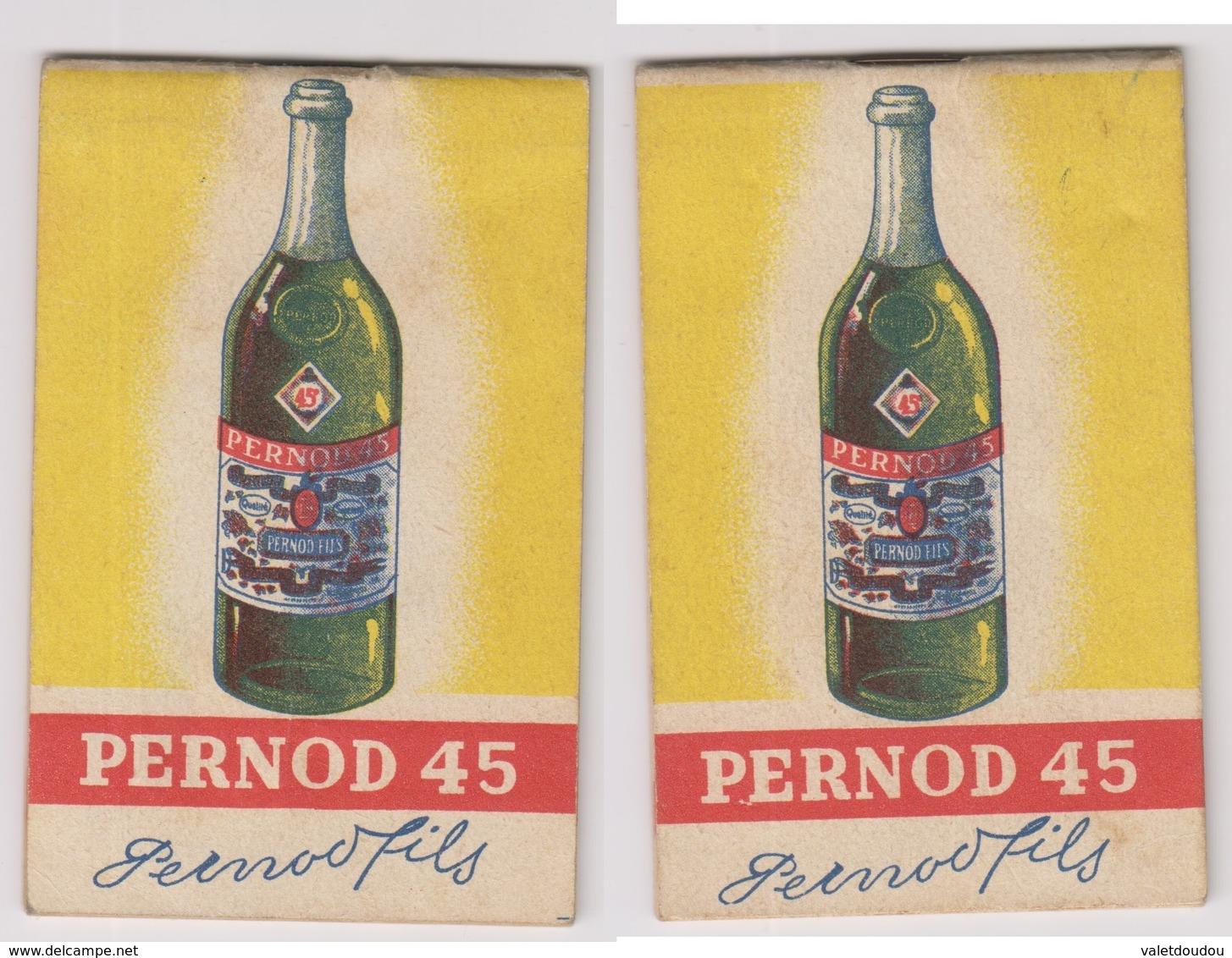PERNOD 45 Carnet De Bistrot - Publicités