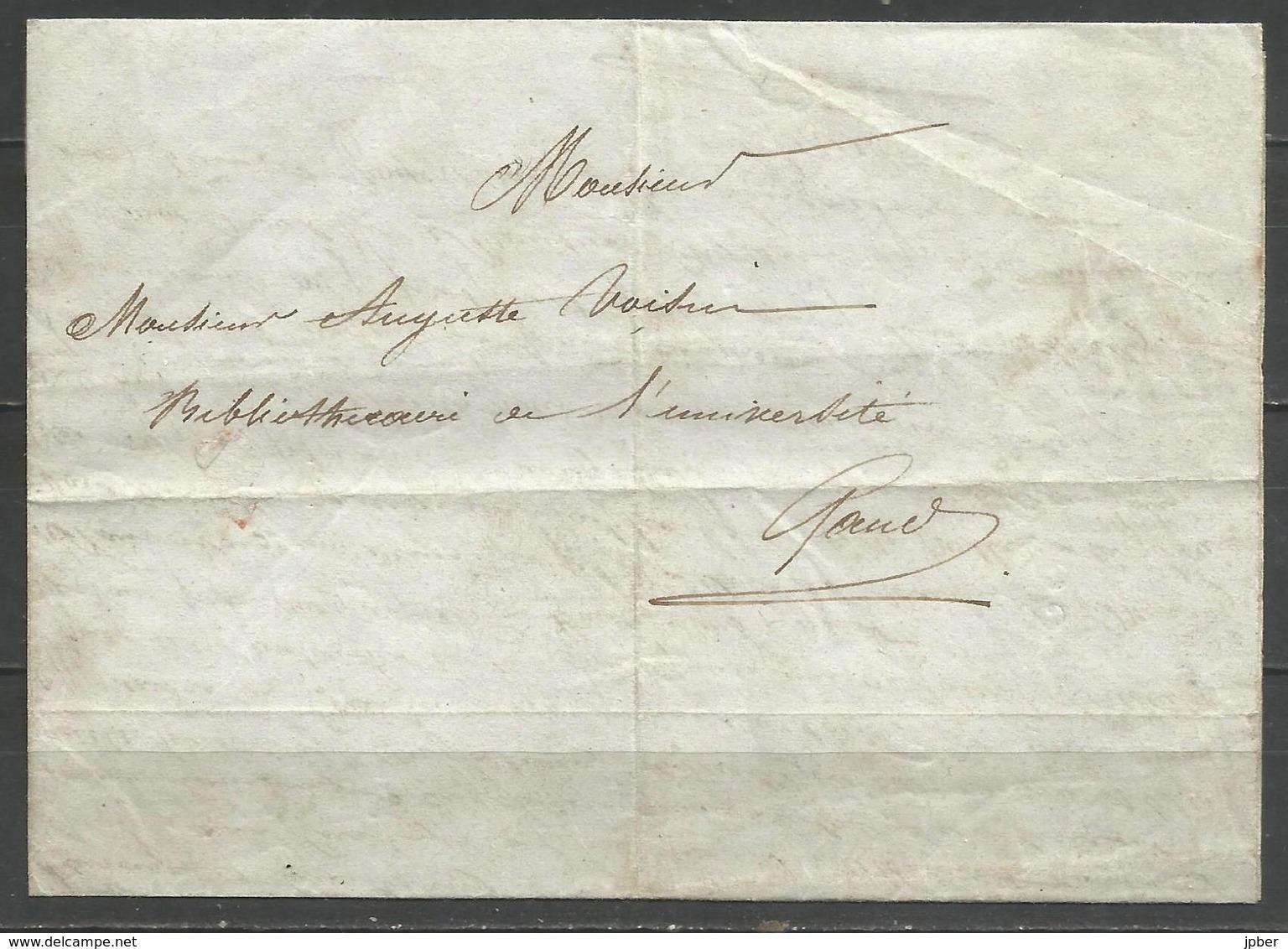 (D174) Lettre De ORSOVA (Roumanie) Vers Gand Du 5/6/1839 - Relate Un Voyage Le Caire-Constantinople-... - 1830-1849 (Belgique Indépendante)