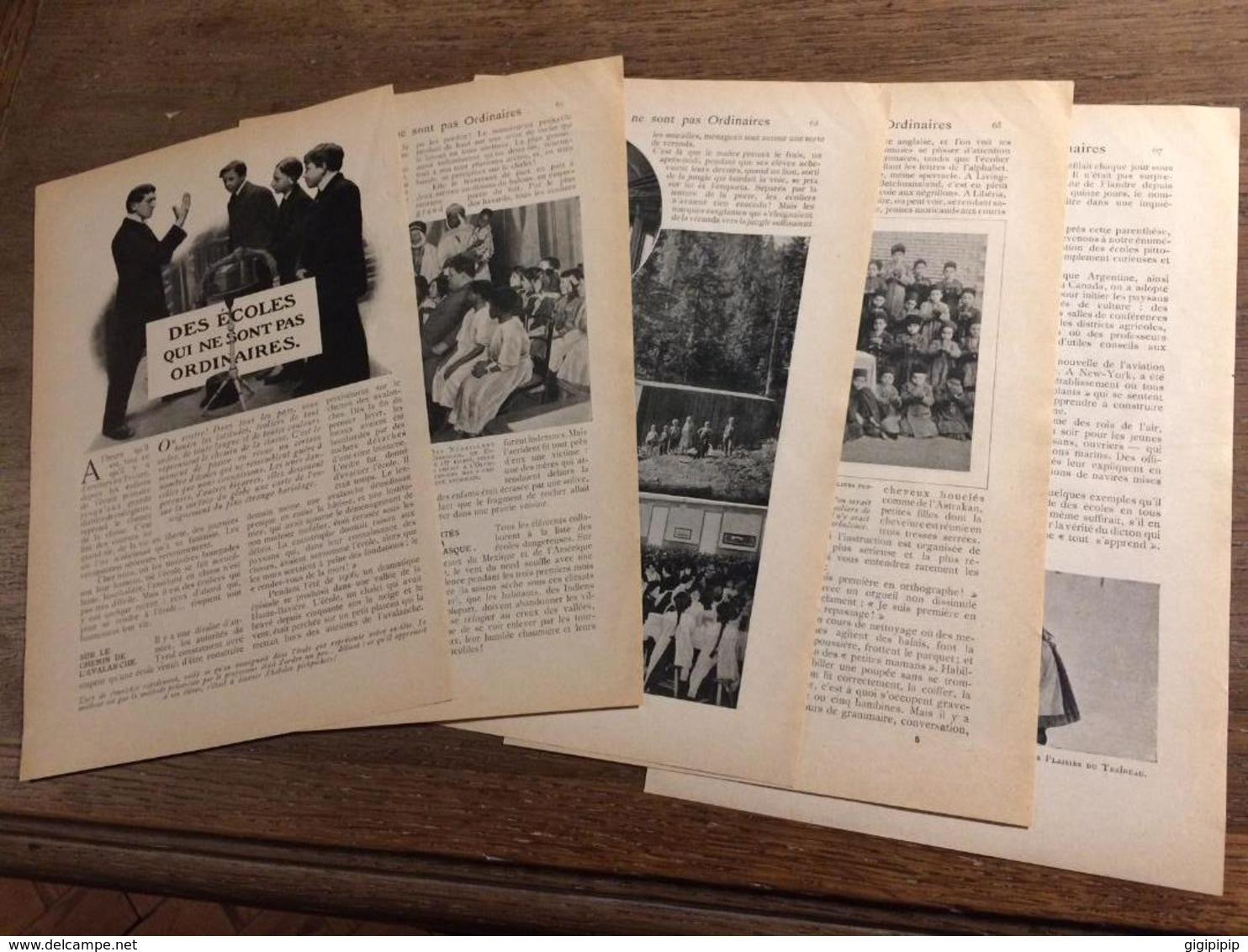 1909 DOCUMENT DES ECOLES QUI NE SONT PAS ORDINAIRES CONGO LIVINGSTONE BAVIERE - Vieux Papiers