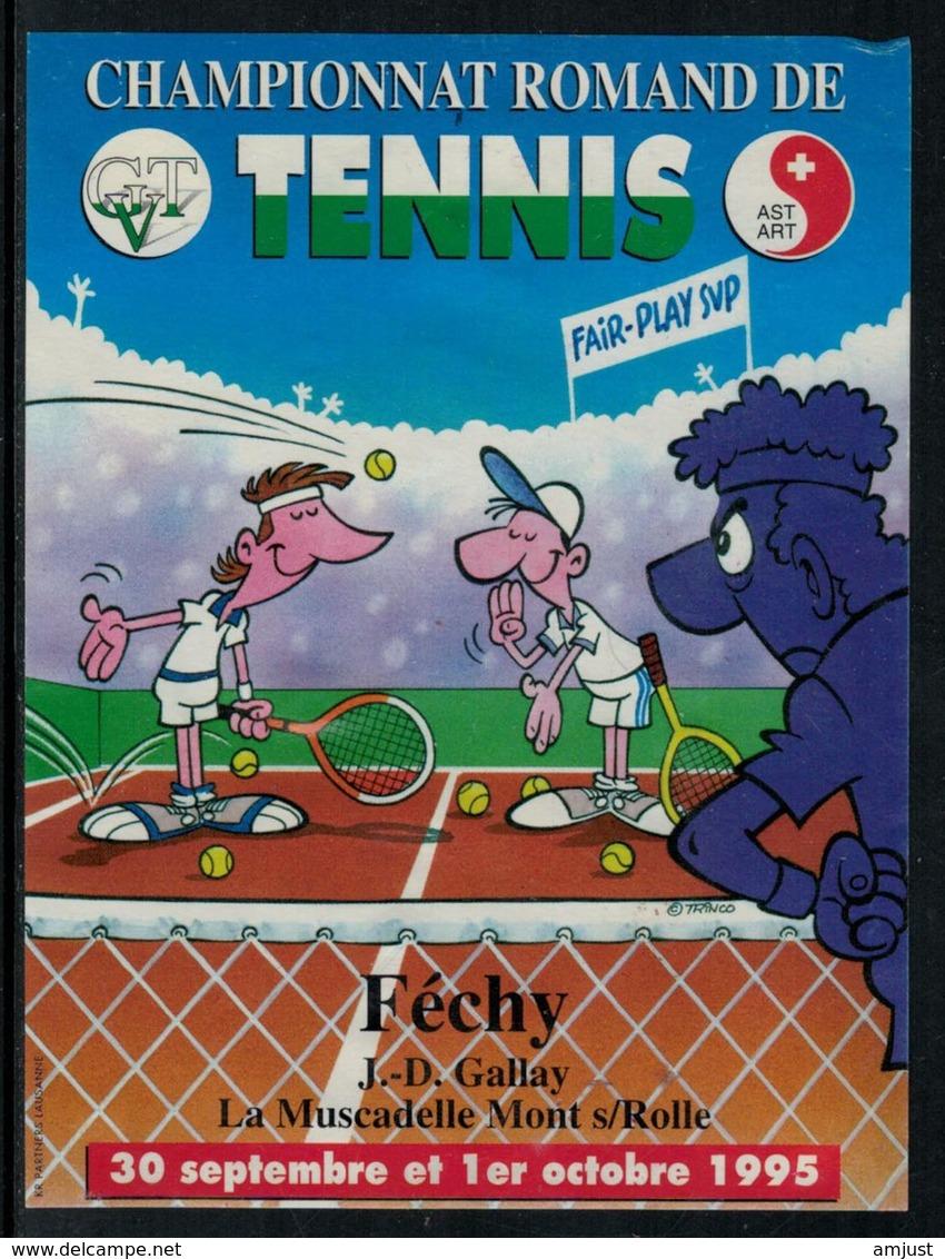 Rare // Etiquette De Vin //  Tennis  //  Féchy, Championnat Romand De Tennis - Etiquettes