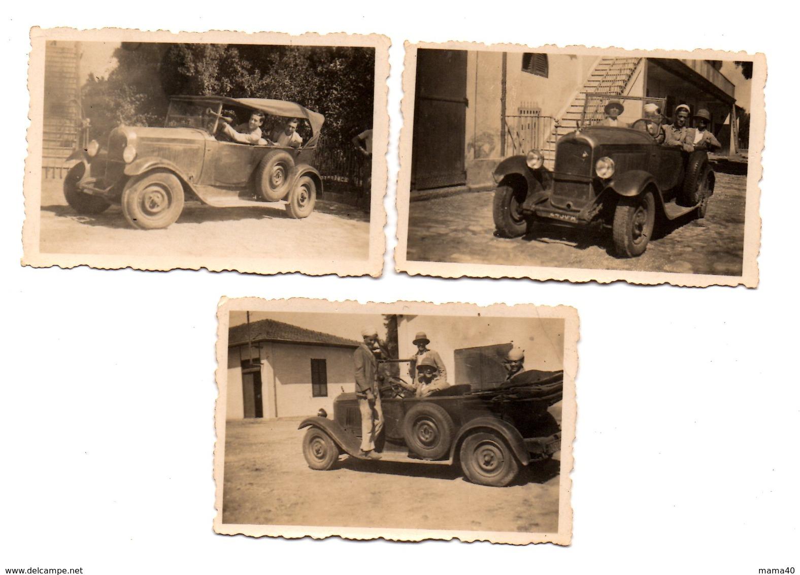 3 PHOTOS - 4 PERSONNES DANS VOITURE DECAPOTABLE - MARQUE ET MODELE A DEFINIR - Automobiles