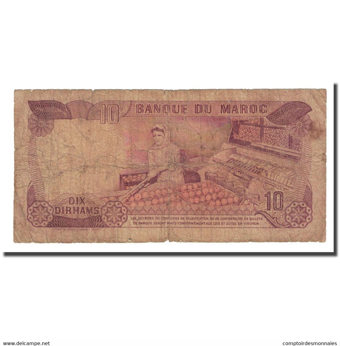 Billet, Maroc, 10 Dirhams, 1970, KM:57a, B+ - Maroc