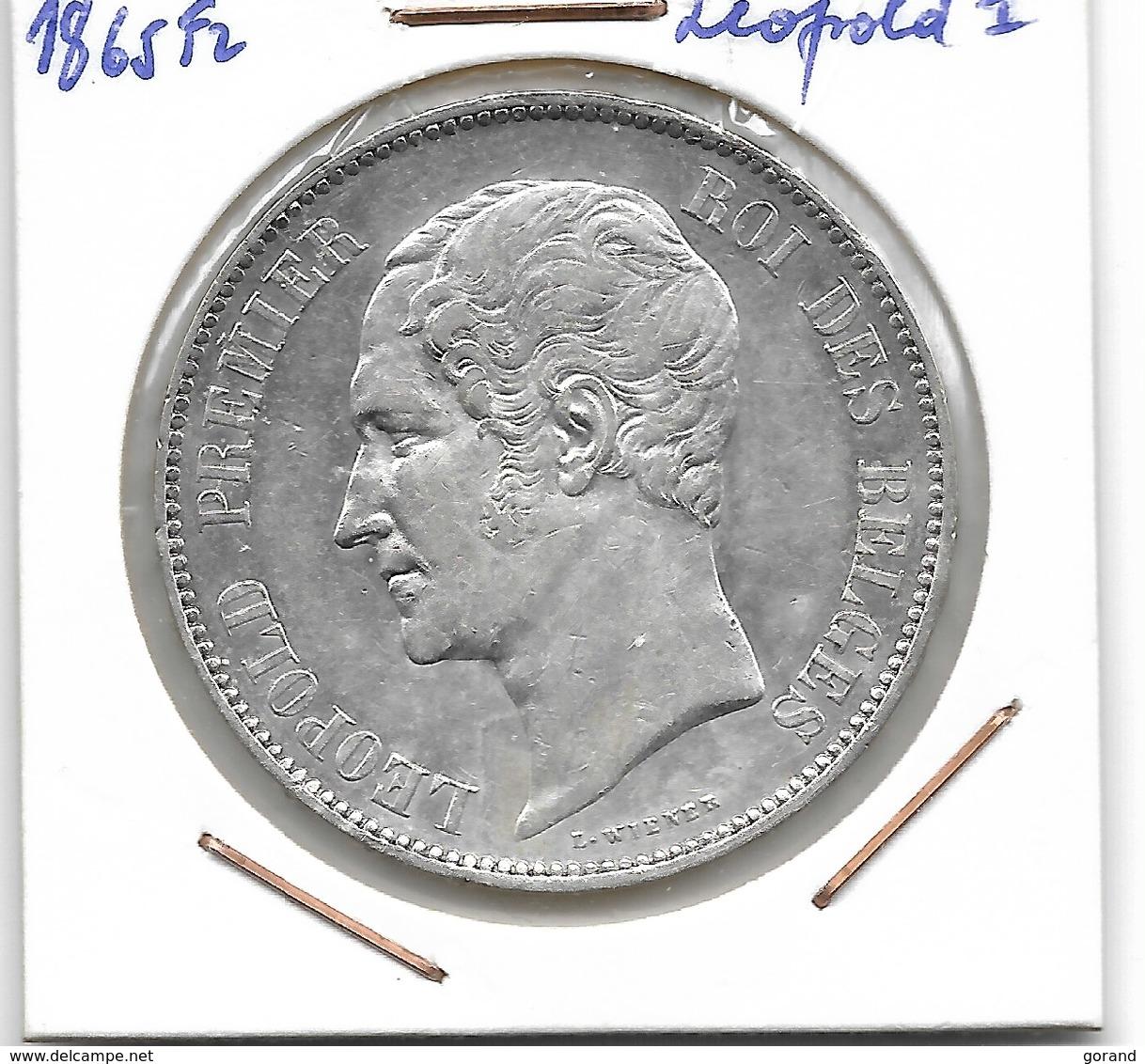 LEOPOLD 1 - 5 FRANK 1865 - 11. 5 Francs