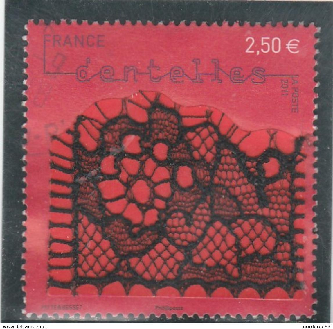 FRANCE 2011 DENTELLE MECANIQUE TYPE CHANTILLY OBLITERE YT 4602 - - France