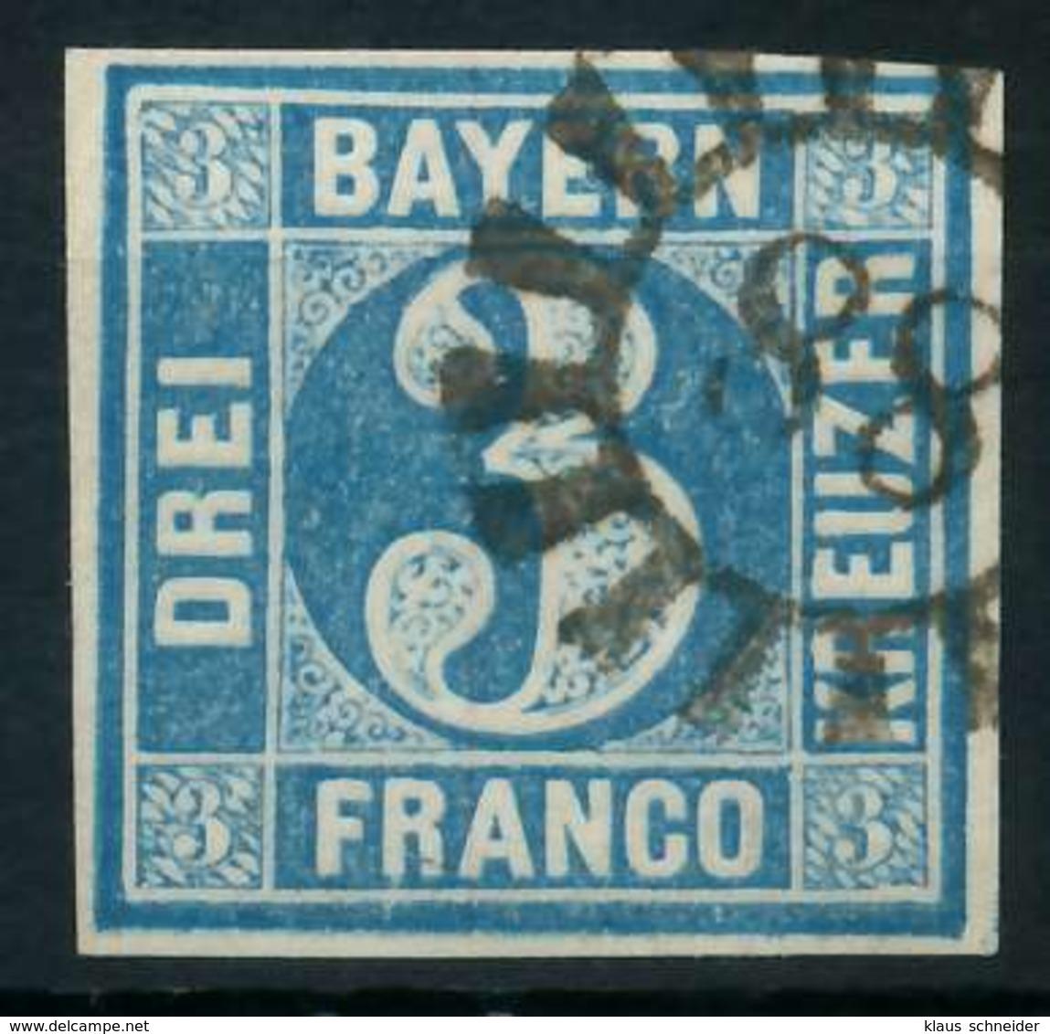 BAYERN QUADRATE Nr 2II GMR -88 Zentrisch Gestempelt X884316 - Bayern
