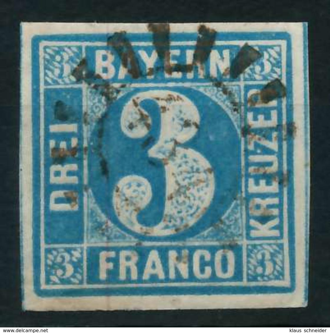 BAYERN QUADRATE Nr 2II GMR 434 Zentrisch Gestempelt X88431A - Bayern