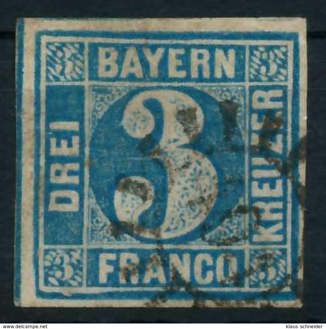 BAYERN QUADRATE Nr 2II GMR 401 Zentrisch Gestempelt X884332 - Bayern