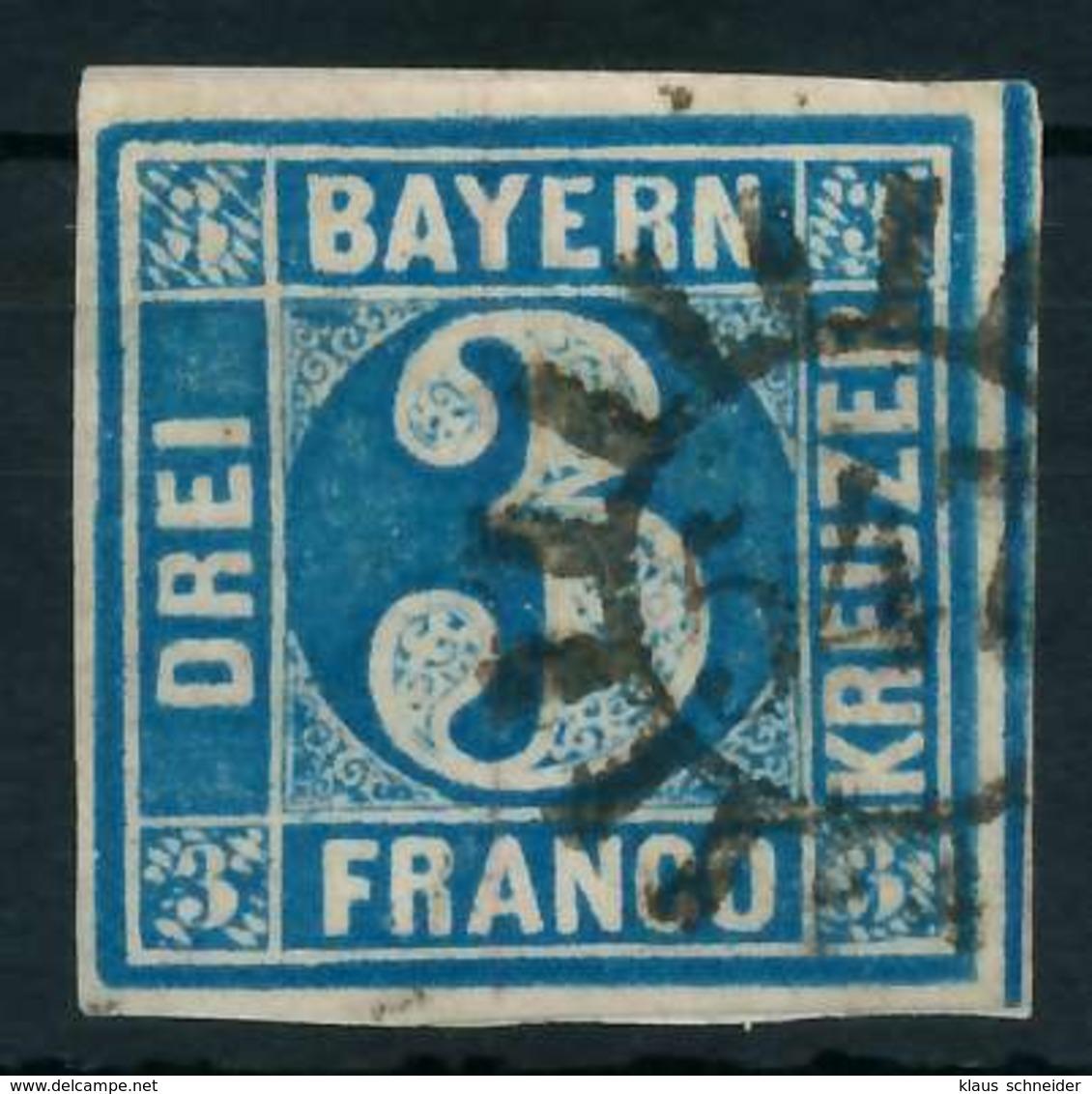 BAYERN QUADRATE Nr 2II GMR 547 Zentrisch Gestempelt X88434A - Bayern