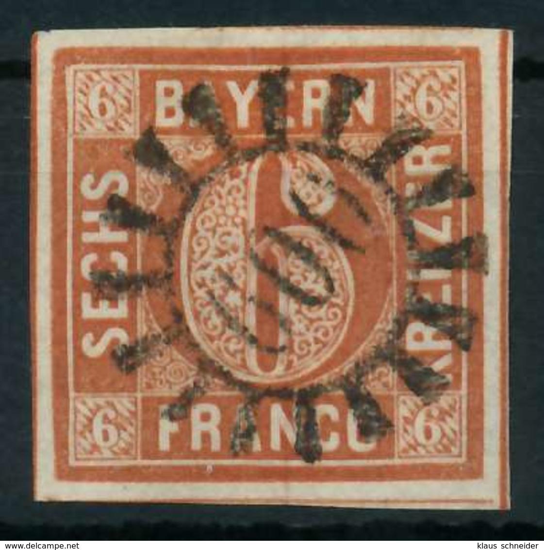 BAYERN QUADRATE Nr 4II GMR 600 Zentrisch Gestempelt X884382 - Bayern