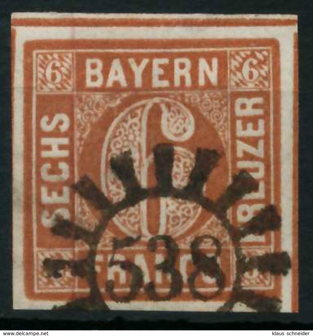 BAYERN QUADRATE Nr 4II GMR 538 Gestempelt X8843BA - Bayern