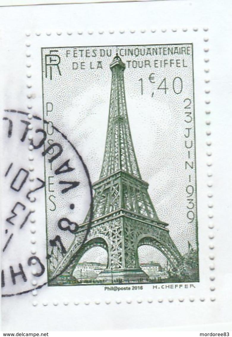 FRANCE 2016 TRESORS DE LA PHILATELIE TOUR EIFFEL OBLITERE - France