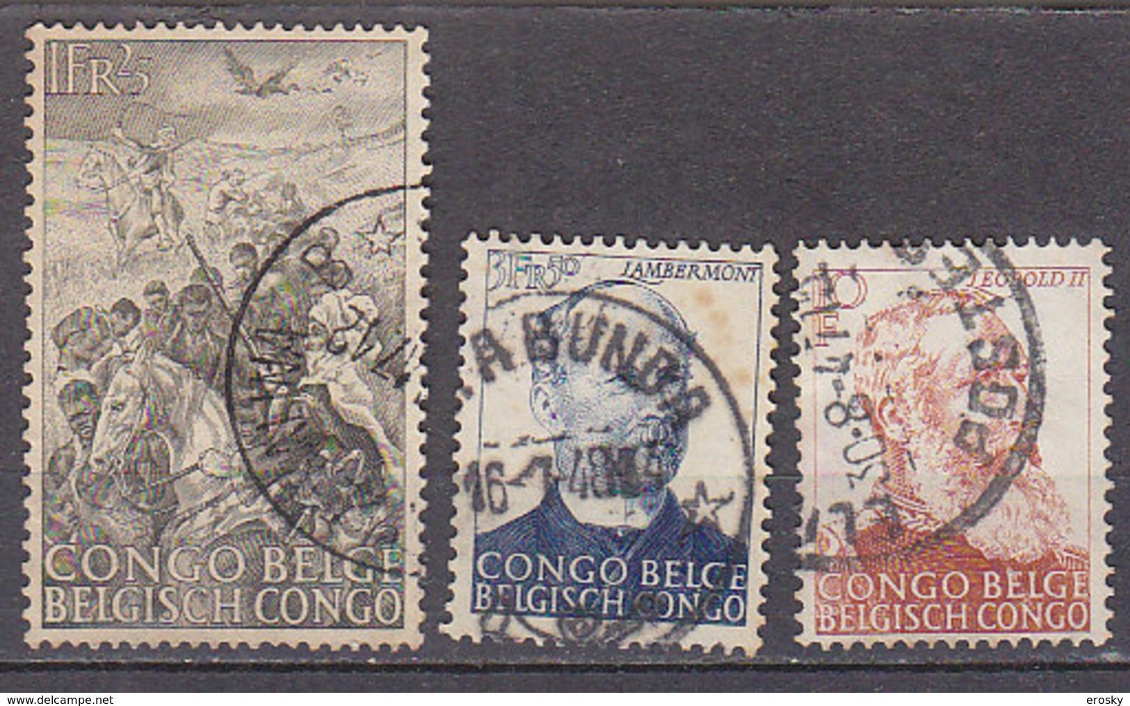 A0228 - CONGO BELGE Yv N°274/76 LUTTE ANTIESCLAVAGISTE - Congo Belge