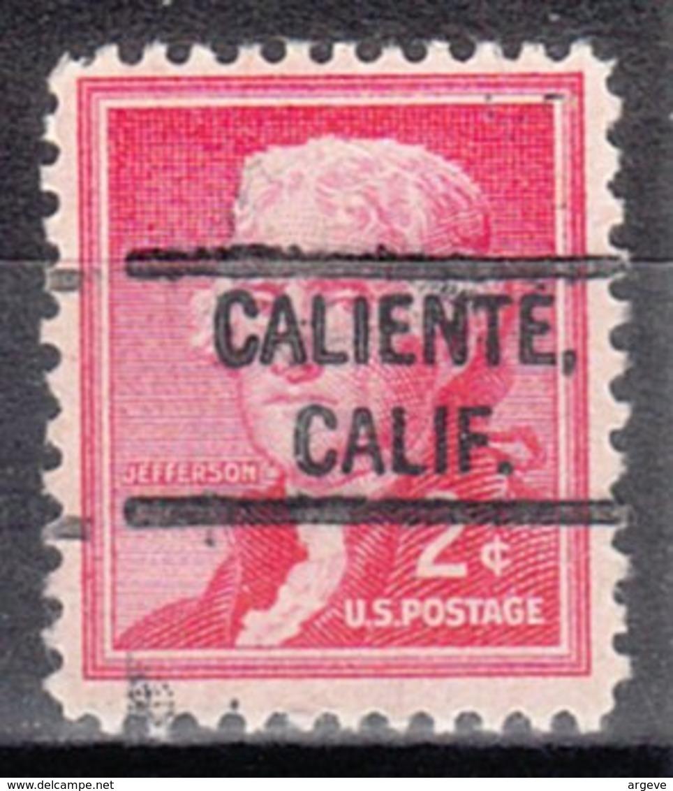 USA Precancel Vorausentwertung Preo, Locals California, Caliente 804 - Vereinigte Staaten