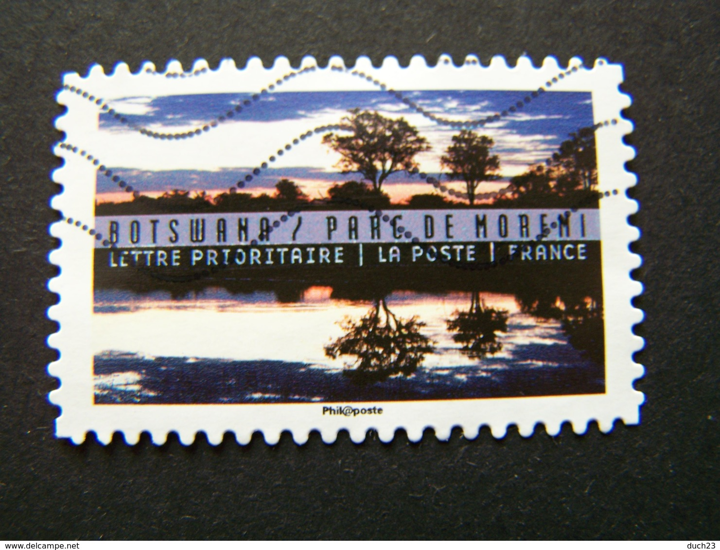 N°1365 BOTSWANA PARC DE MORENI OBLITERE ANNEE 2016 SERIE DU CARNET PAYSAGES ET REFLETS DU MONDE AUTOCOLLANT ADHESIF - France