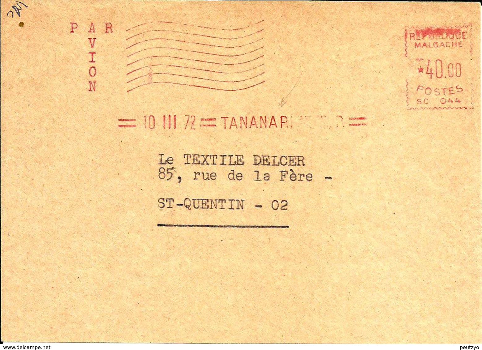 EMA SATAS SC 044 Republique Malgache  1972   A76/3 - EMA (Printer Machine)