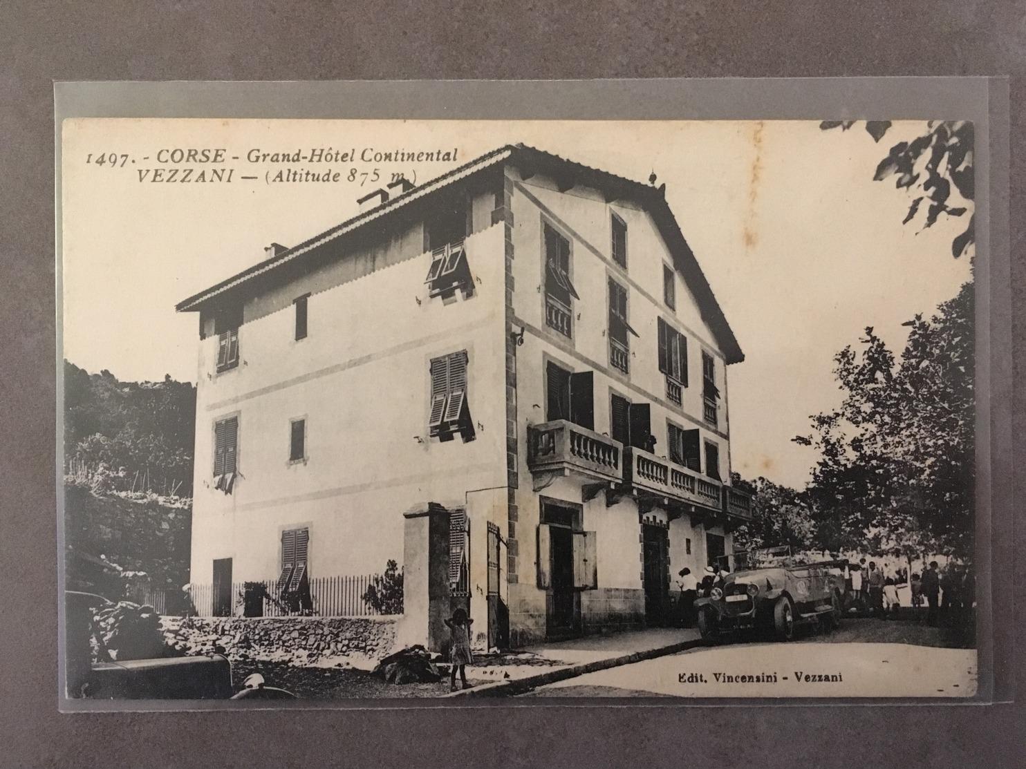 CORSE CPA VEZZANI GRAND HOTEL CONTINENTAL - France