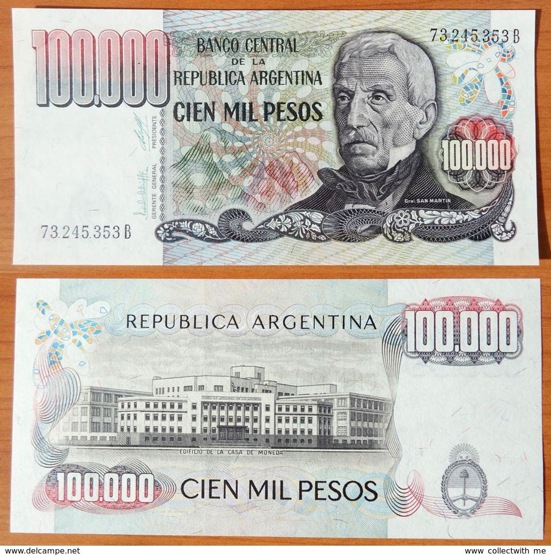 Argentina 100000 Pesos 1979-1983 UNC - Argentine