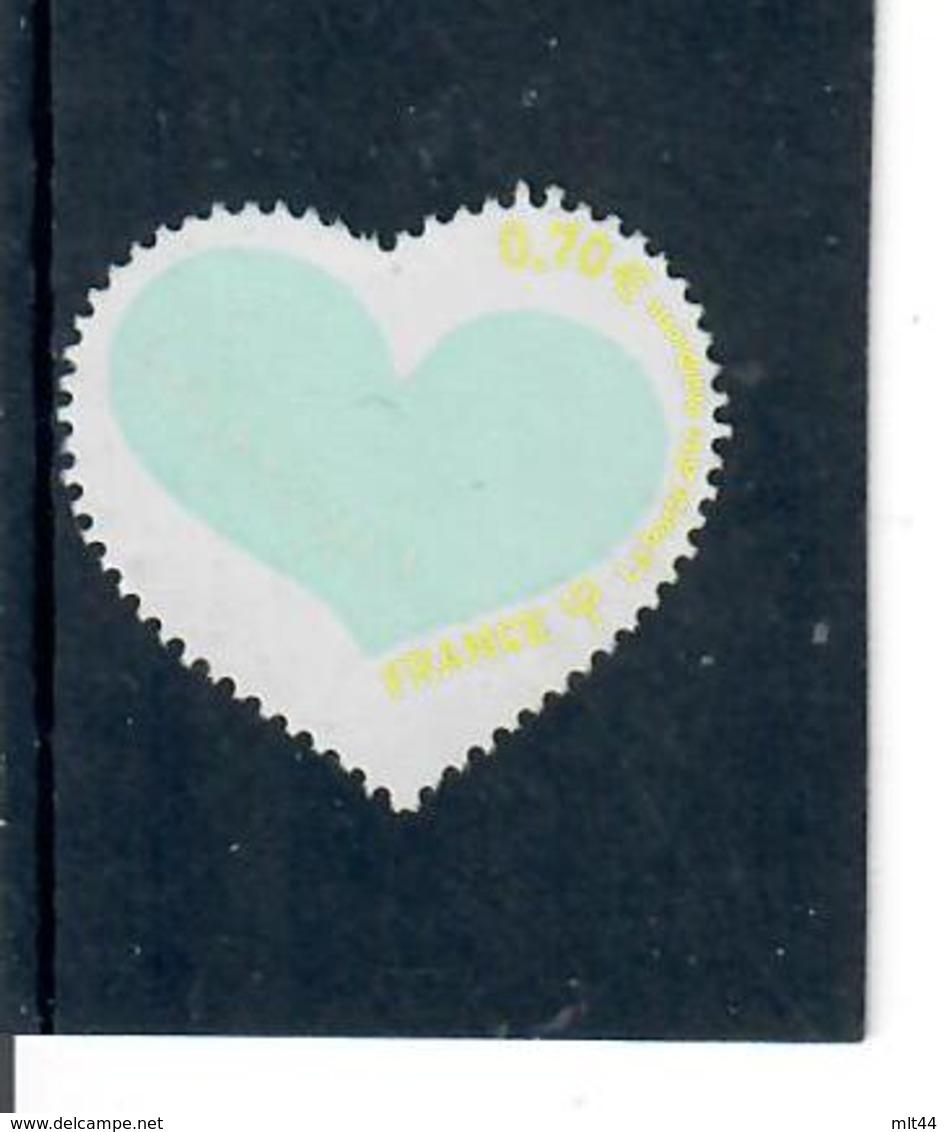 Yt 5026 St Valentin Coeur Courreges--inscription Couleur Jaune - France