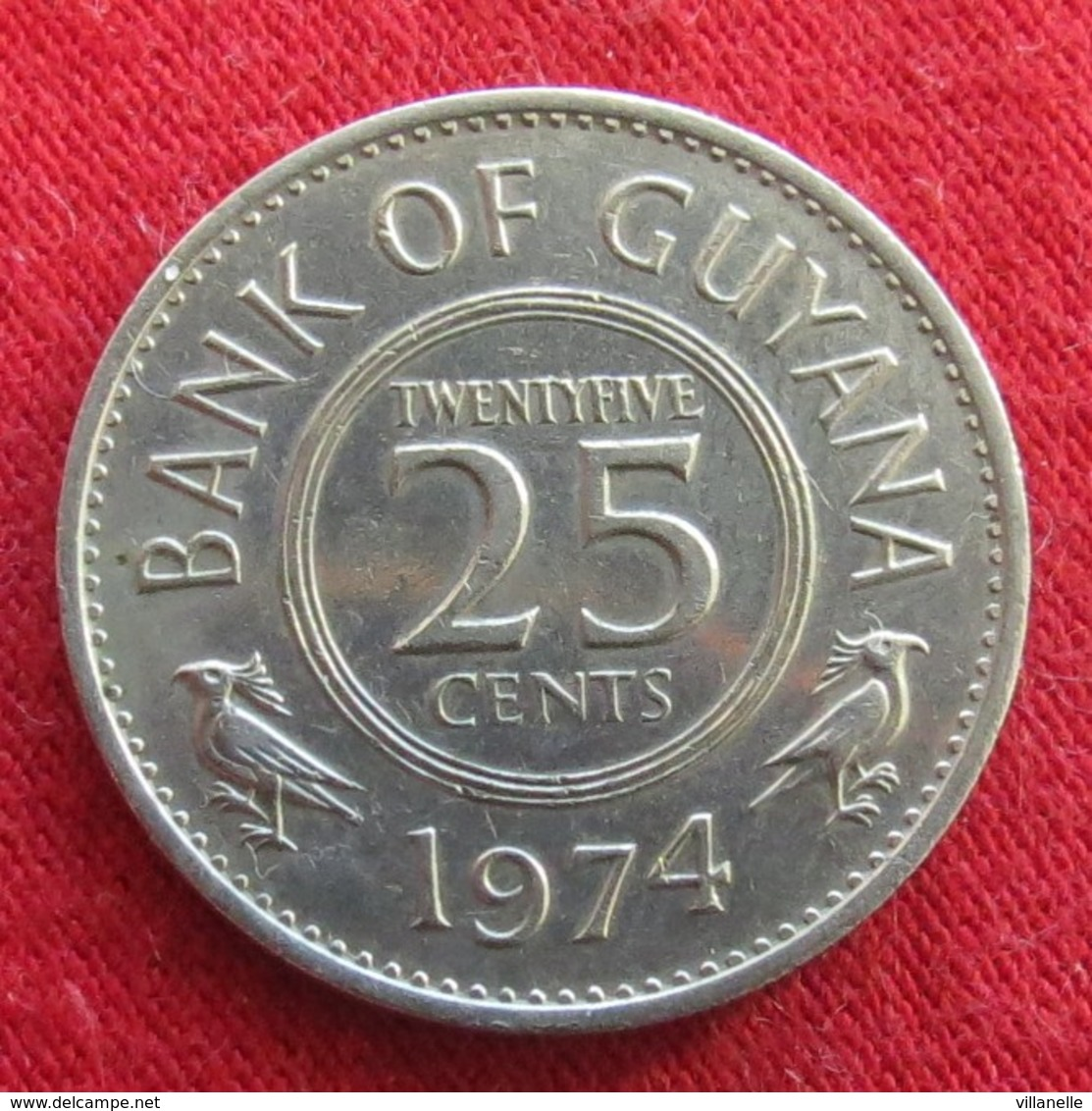 Guyana 25 Cents 1974 KM# 34 Guiana - Guyana
