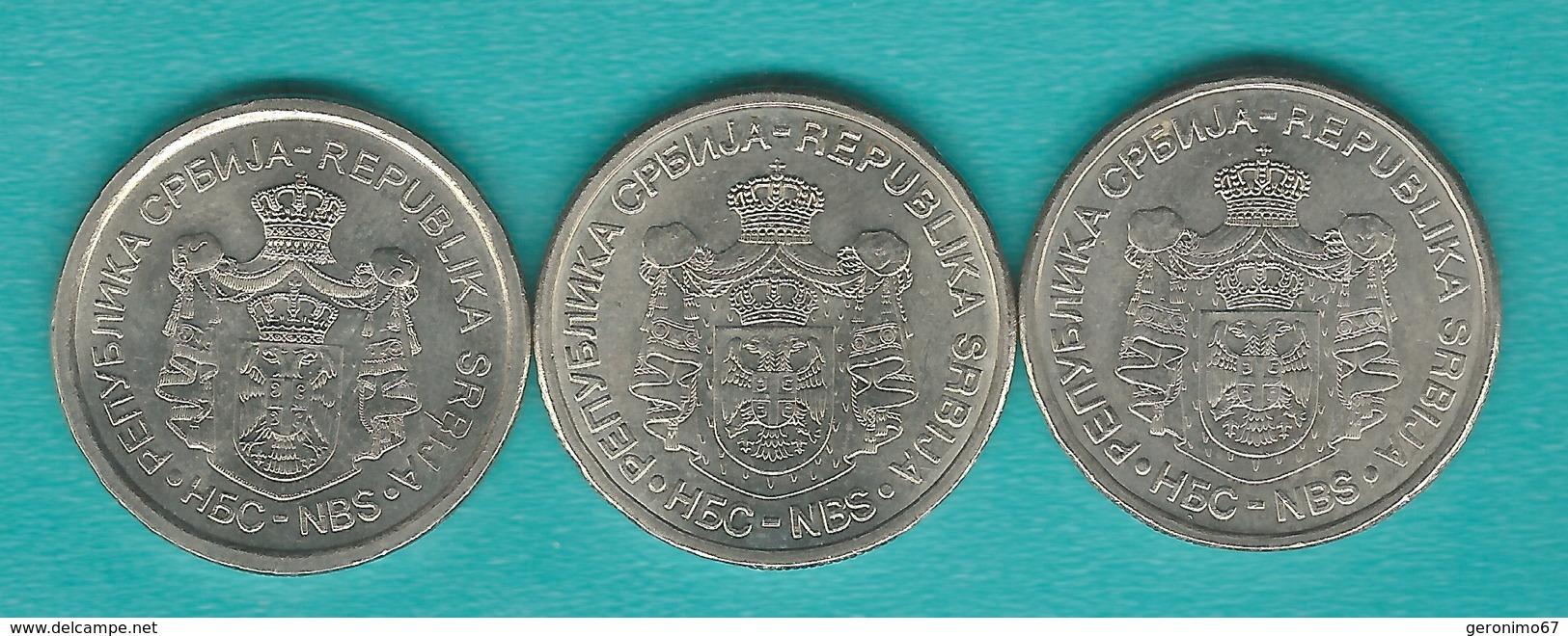 5 Dinara - 2006 (KM40) 2011 (56) & 2013 (KM56a); 10 Dinara - 2005 (KM41) 2009 - Universiade (KM51) & 2012 (KM57) - Serbie