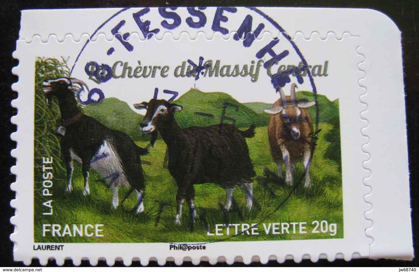 Timbre De France 2015 - Les Chèvres 7 - Timbre Oblitéré - - France