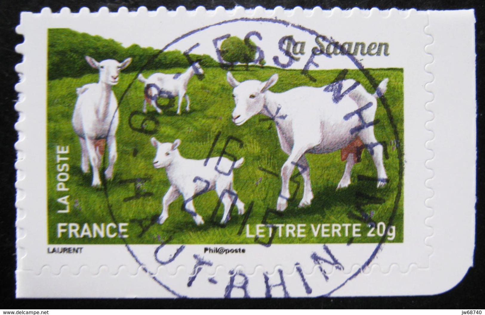 Timbre De France 2015 - Les Chèvres 4 - Timbre Oblitéré - - France