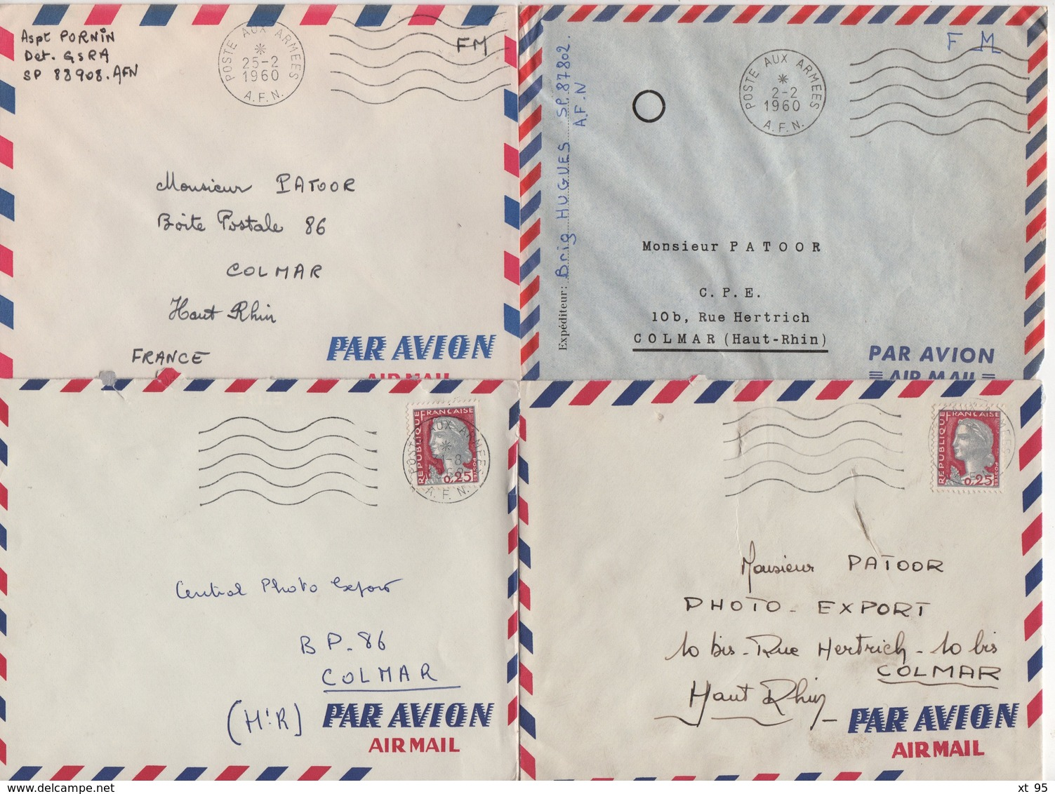 Guerre D'Algerie - Poste Aux Armees AFN - Lot De 20 Lettres - Voir Scan - Poststempel (Briefe)