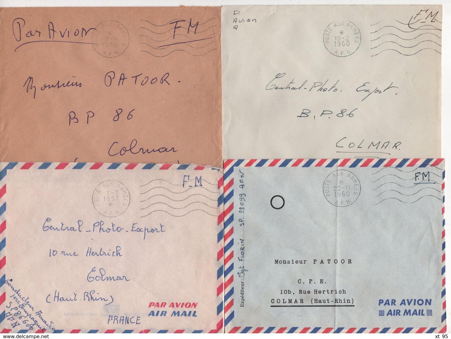 Guerre D'Algerie - Poste Aux Armees AFN - Lot De 20 Lettres - Voir Scan - Postmark Collection (Covers)