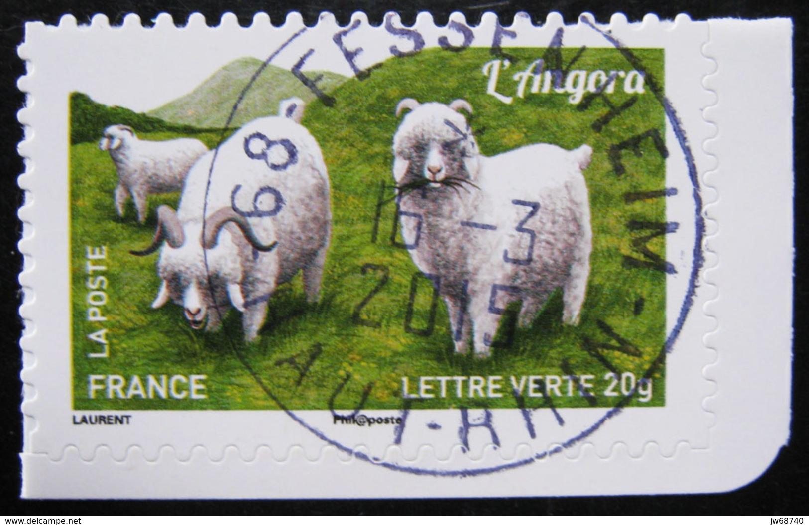 Timbre De France 2015 - Les Chèvres 8 - Timbre Oblitéré - - France