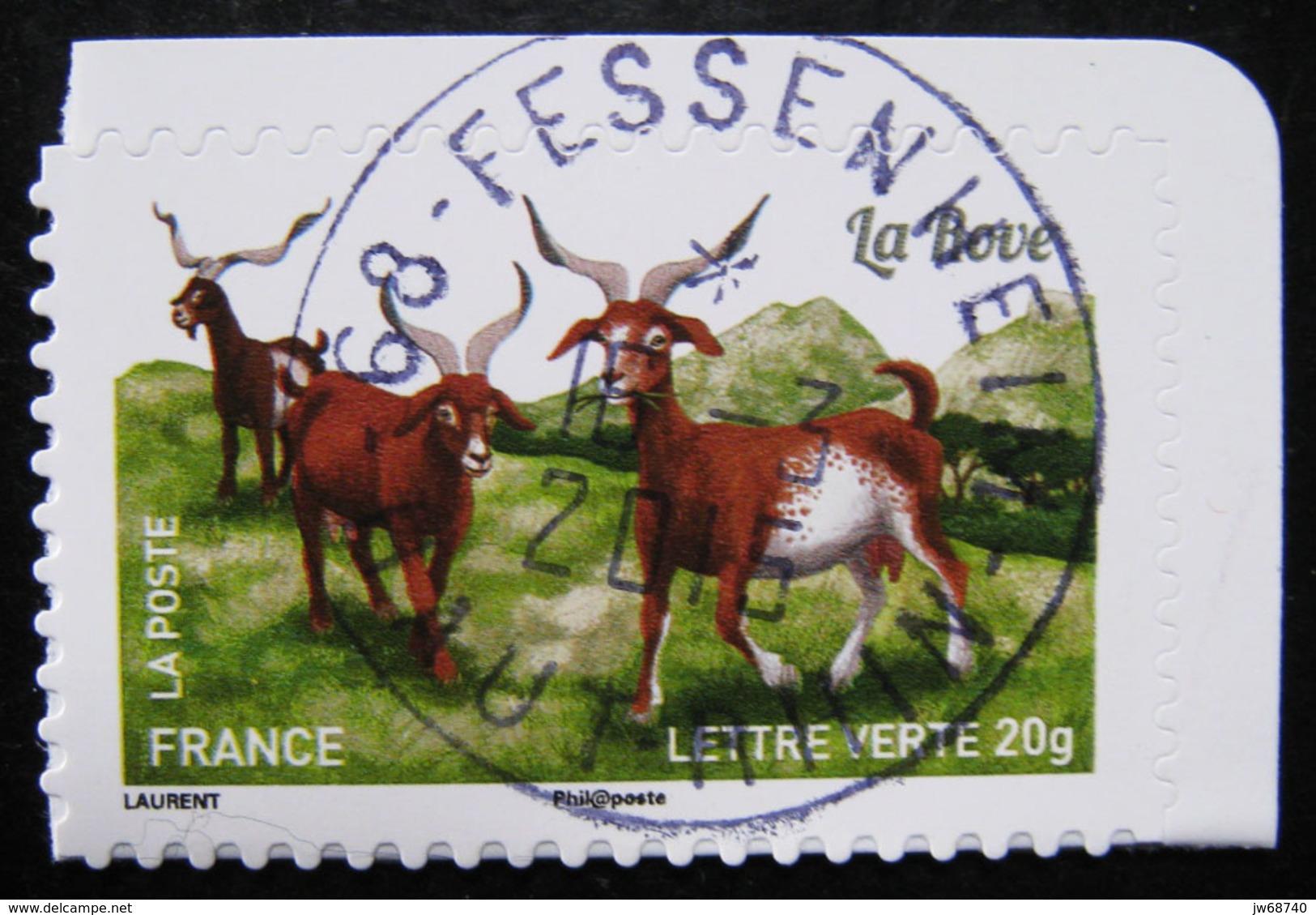 Timbre De France 2015 - Les Chèvres 11- Timbre Oblitéré - - France