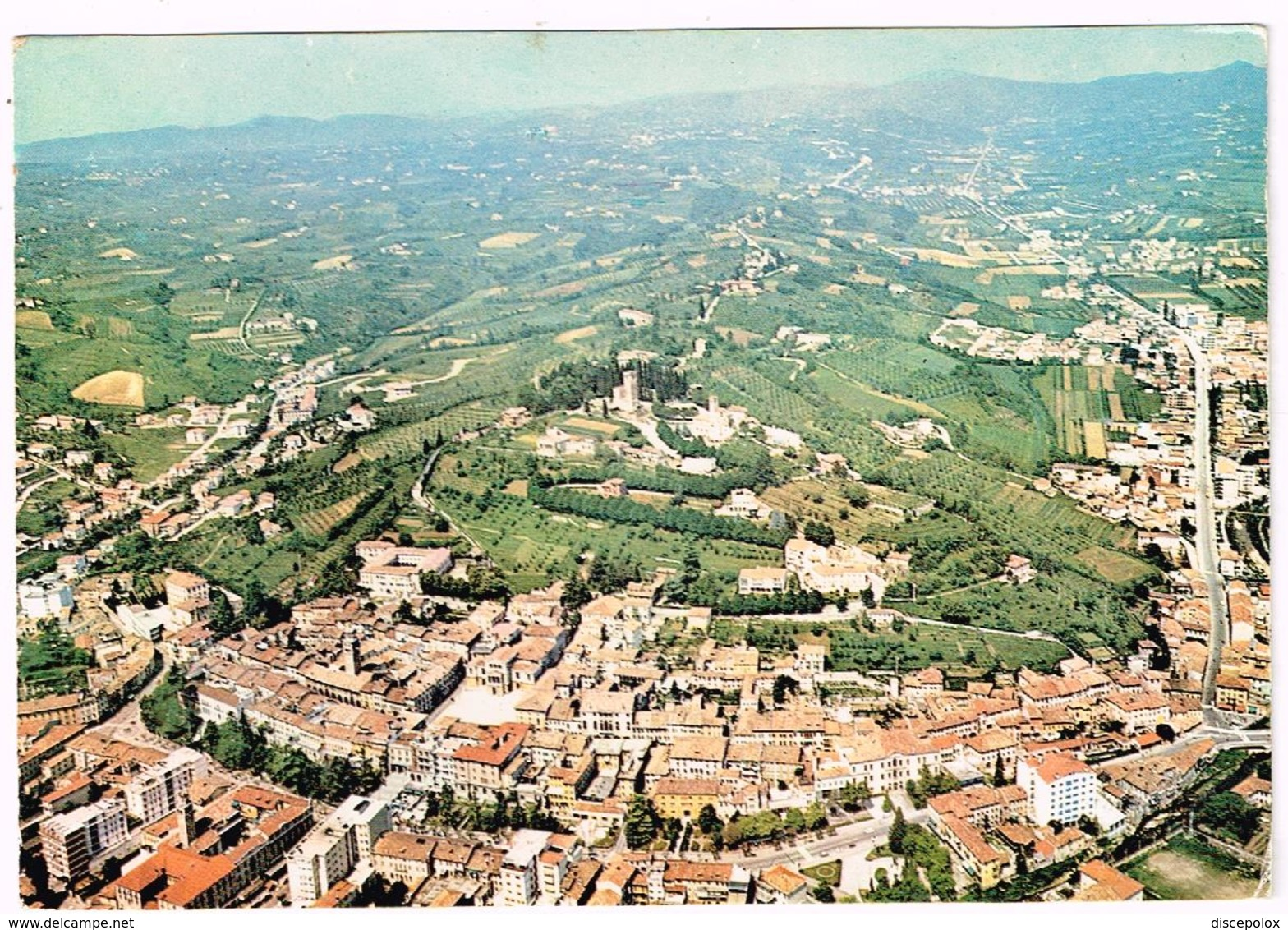 V3663 Conegliano Veneto (Treviso) - Panorama Aereo Vista Aerea Aerial View Vue Aerienne / Viaggiata 1973 - Altre Città