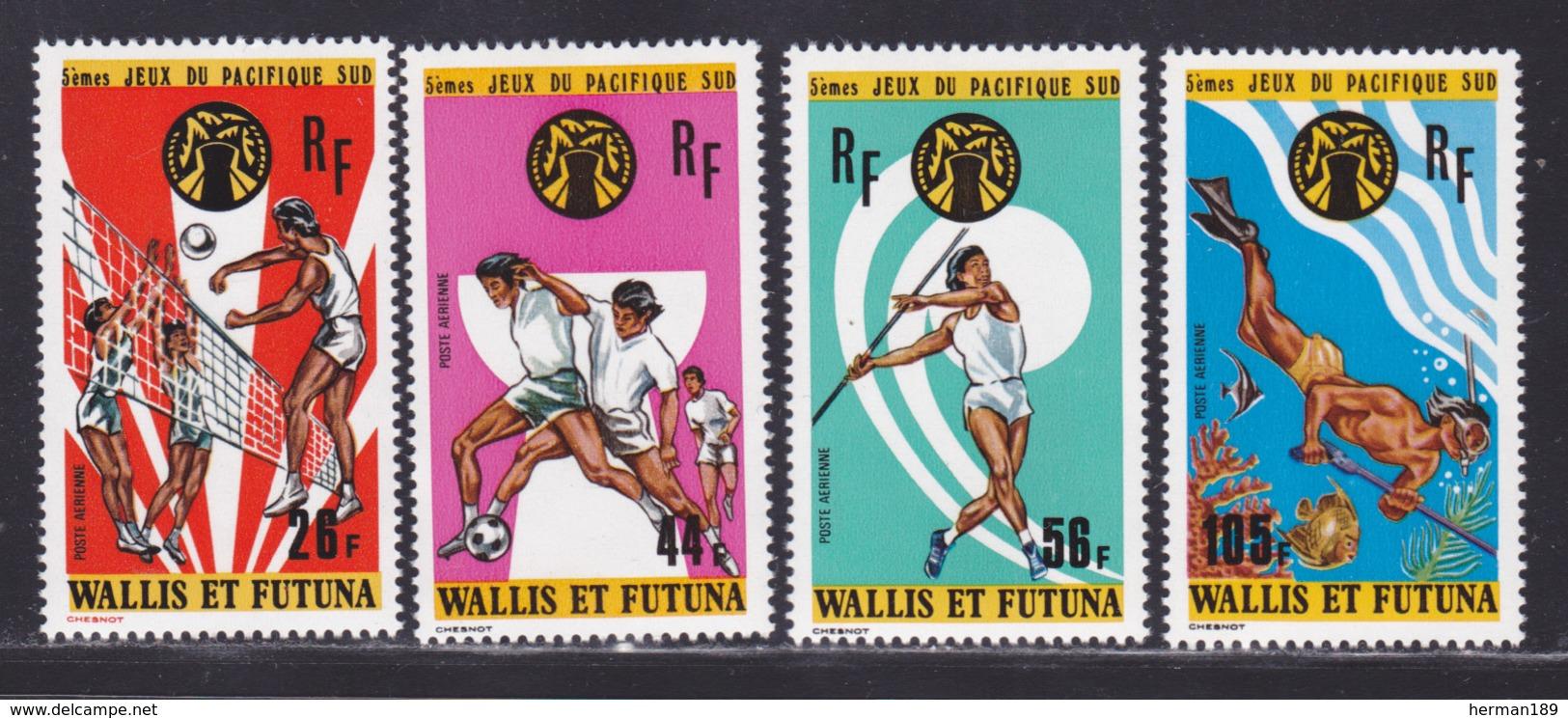 WALLIS ET FUTUNA AERIENS N°   63 à 66 ** MNH Neufs Sans Charnière, TB (D8185) Sports, Jeux Du Pacifique Sud - 1975 - Aéreo