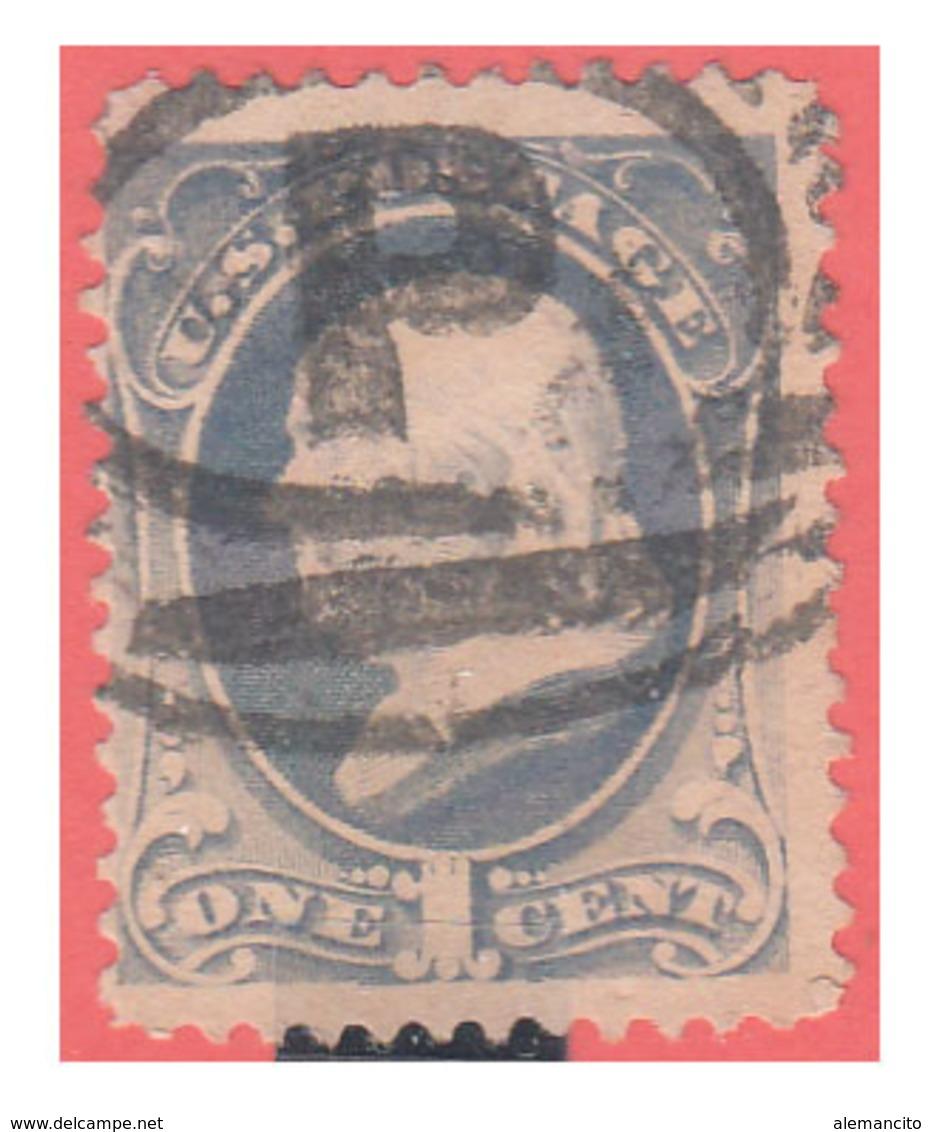 ESTADOS UNIDOS USA UNITED STATES 1870-71 – FRANKLIN ULTRAMARINE - América Central