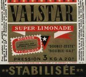 "Etiquette ""VALSTAR"" Super Limonade - Etiquettes"