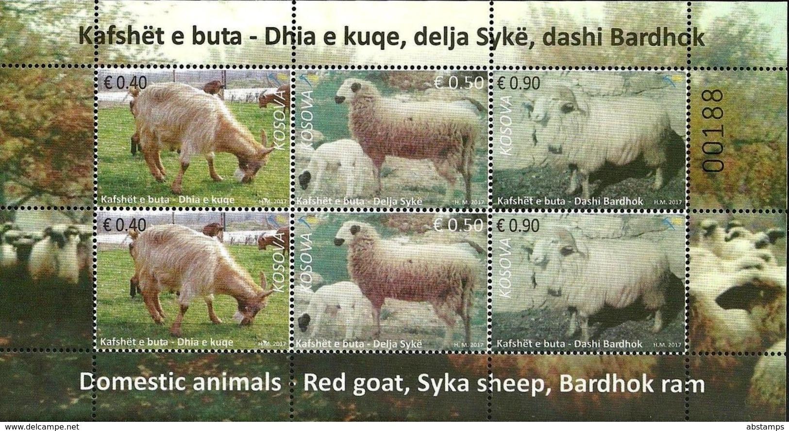 Kosovo Stamps 2017. Domestic Animals, Sheep. Sheet MNH - Kosovo