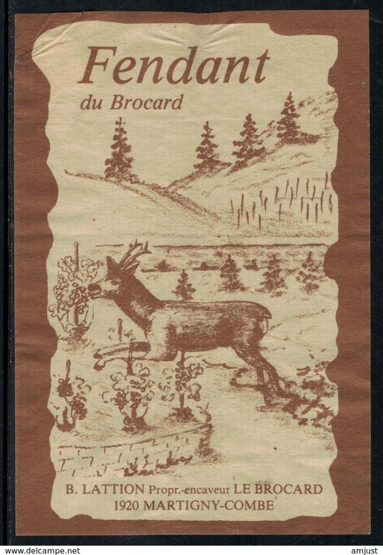 Rare // Etiquette De Vin // Chamois //  Fendant, Le Brocard - Etiquettes
