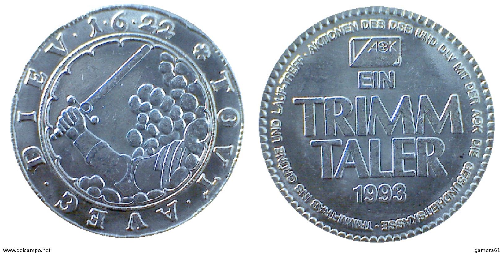 03387 GETTONE TOKEN JETON  COMMEMORATIVE TRIMM TALER DIEV TOUT AUEG 1993 - Allemagne