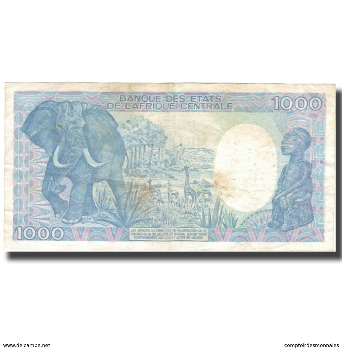Billet, Gabon, 1000 Francs, 1991, 1991-01-01, KM:10b, TTB - Gabon