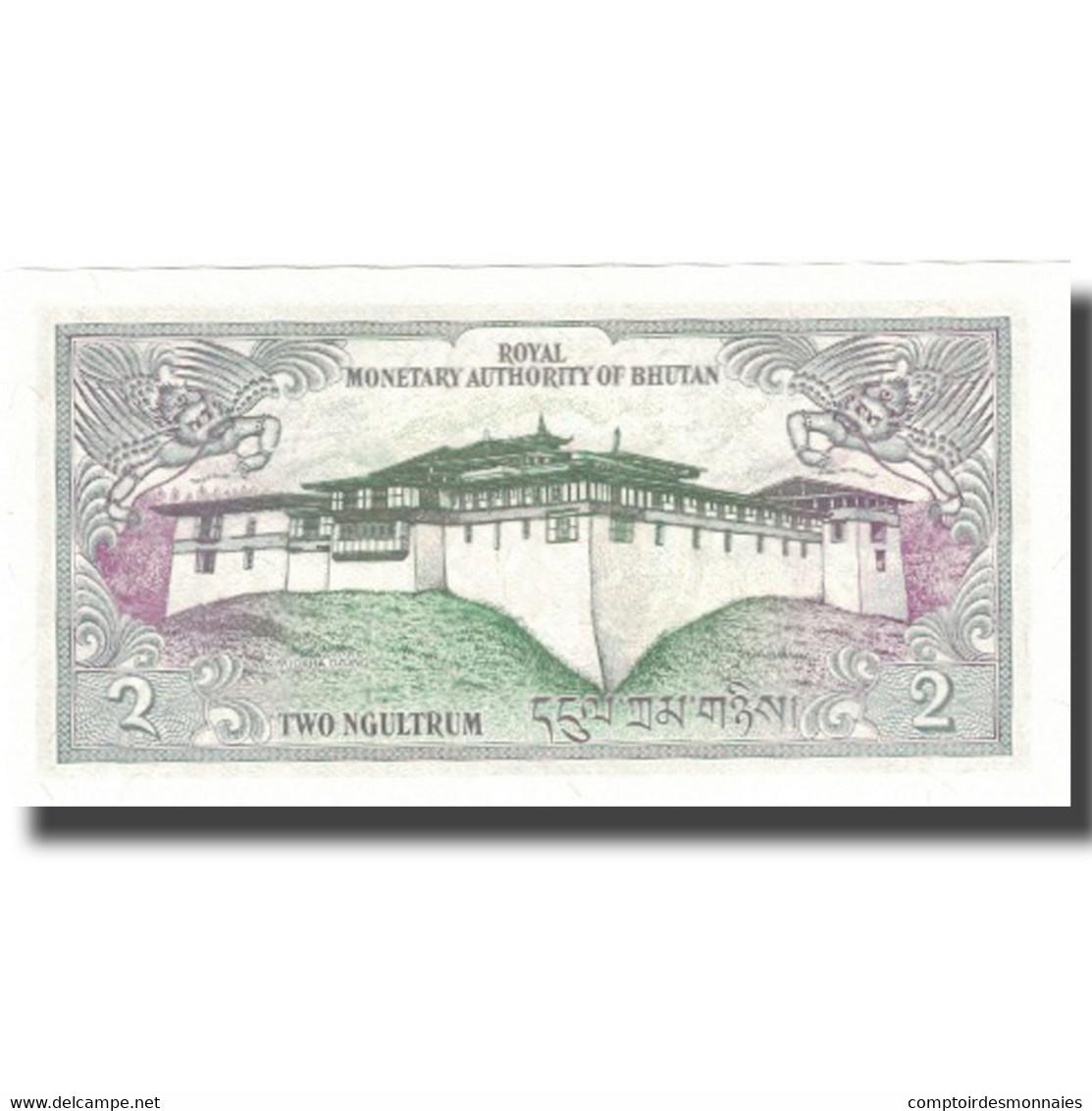 Billet, Bhoutan, 2 Ngultrum, Undated (1986), KM:6, NEUF - Bhoutan