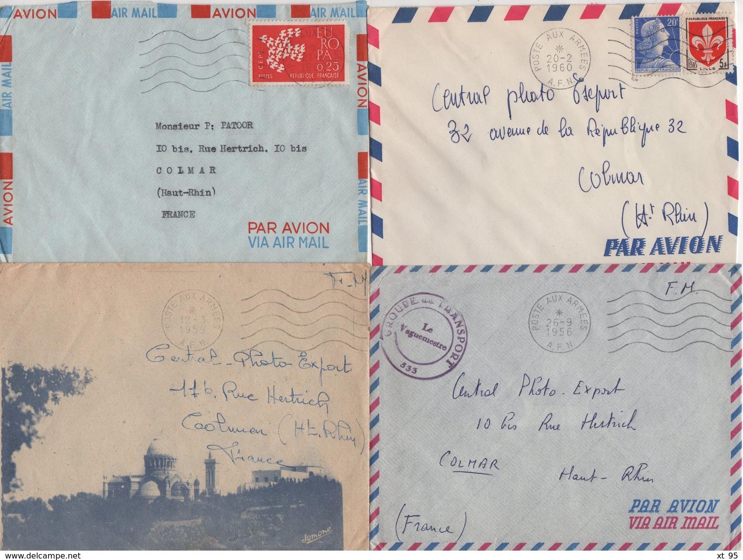Guerre D'Algerie - Poste Aux Armees AFN - Lot De 20 Lettres - Voir Scan - Storia Postale