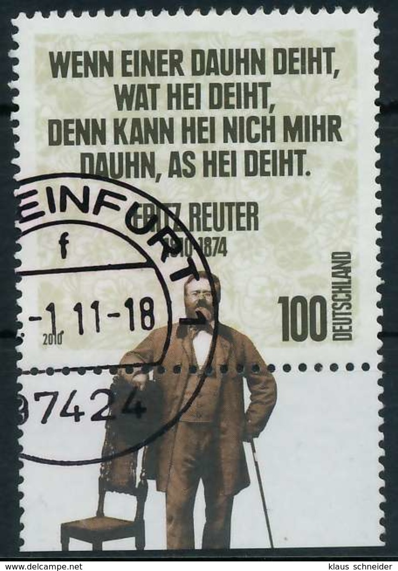 BRD 2010 Nr 2832 Gestempelt X8460FE - [7] République Fédérale